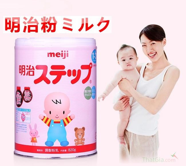 Phân biệt sữa Meiji thật và giả.