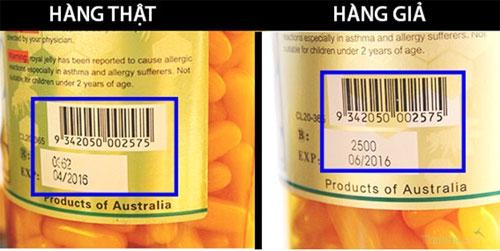 Phân biệt sữa ong chúa Costar của Úc thật- giả