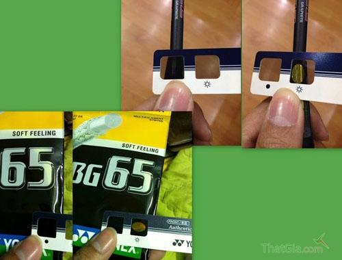 Kiểm tra tem vợt cầu lông Yonex thật và giả