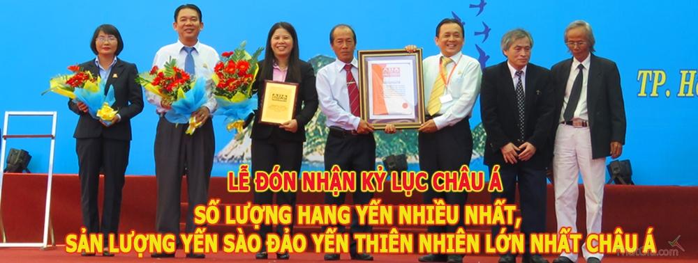 Yến Khánh Hòa là thương hiệu yến duy nhất tại Châu Á được chứng nhận 100 % khai thác từ tự nhiên