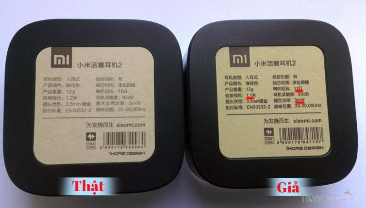 Tai nghe Xiaomi Piston Thật và Nhái khác nhau ở điểm nào?