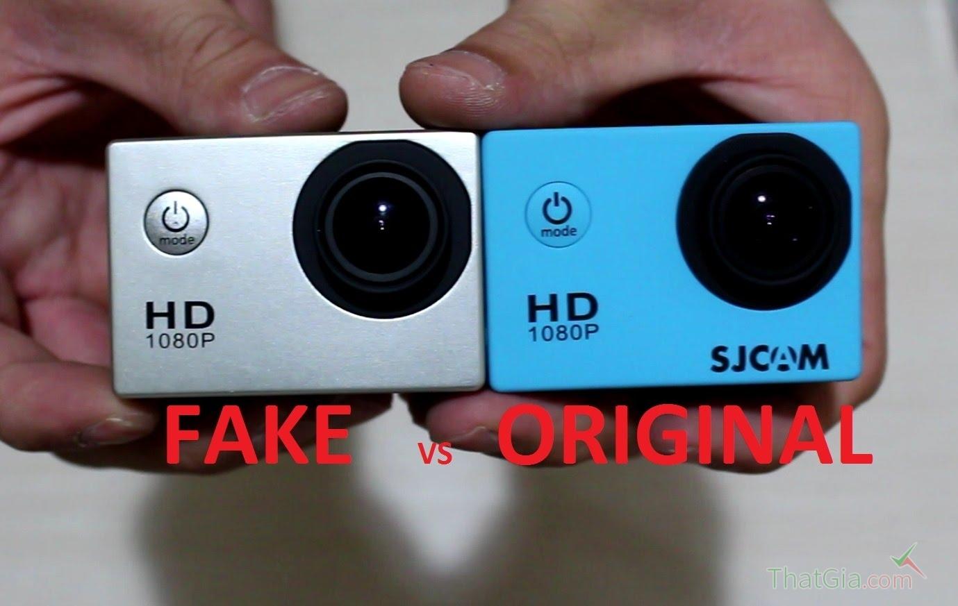 Cách phân biệt camera Sjcam thật, nhái qua hình dáng bên ngoài