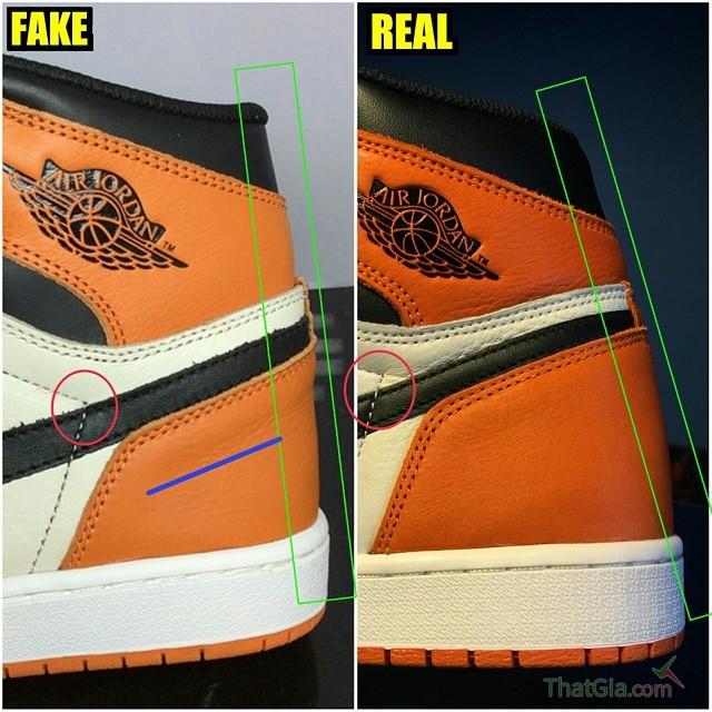 7 cách phân biệt Shattered Backboard Air Jordan 1s thật và hàng fake