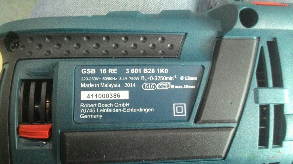 Phân biệt máy khoan Bosch chính hãng