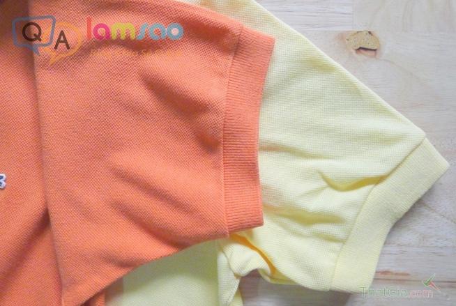 Đường viền ống tay áo Lacoste