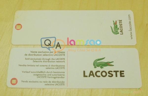Logo Áo Lacoste thật