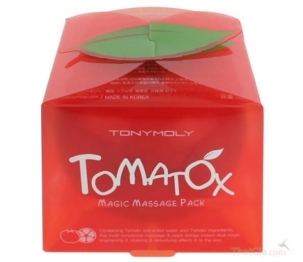Phân biệt mặt nạ cà chua Tomatox thật - giả