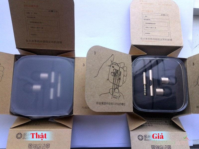 phân biệt tai nghe Xiaomi Piston chính hãng và hàng nhái