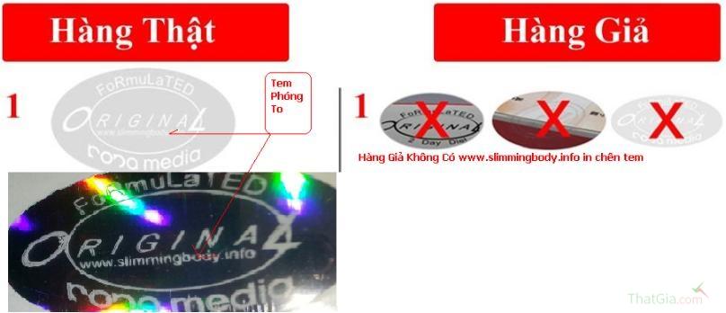 Tem phản quang Original có hình bầu duc và in tên website www.slimmingbody.info