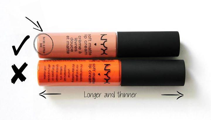 phân biệt son thật giả - NYX Soft matte lip cream