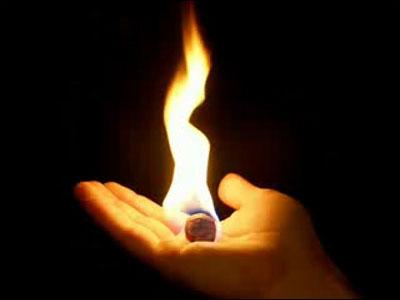 Dùng lửa để thử đá
